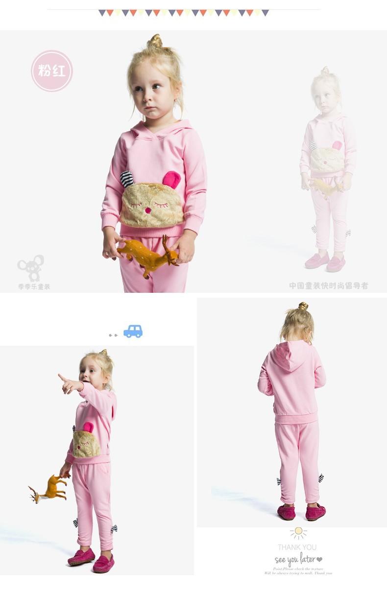 Скидки на Новорожденных девочек костюм патч дизайн пух толстовки + брюки одежда наборы девушки верхняя одежда мода костюмы