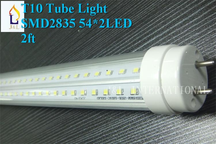 Free shipping 25pcs/lot T10 LED Tube Light, 24W 2FT,600MM,SMD2835 54*2 led/PC, T10 economical tube AC85-265V(China (Mainland))