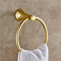 Free Shipping Wholesale and Retail Gold plating Brass Bathroom Towel Hanging Ring Wall Mounted Bath Towel