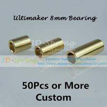 50Pcs 8mm Bearing Ultimaker Copper Sintered Bush Dintered Self-lubricating DIY 3 Models For Slide Block 3 D Printer Accessories