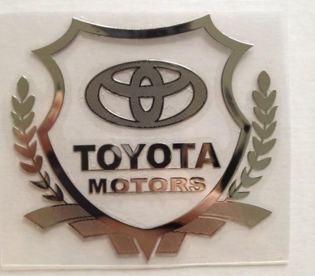 Excellent New car metal Badge case For avensis camry Yaris Prius RAV4 Toyota corolla car emblem(China (Mainland))