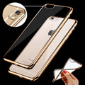 EMIUP case For iPhone 6 6s 7 Plus Luxury Ultra Thin Clear Crystal Rubber Plating Electroplating