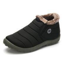 KHTAA Wodoodporne buty damskie Zimowe Unisex Botki damskie Poślizg Plus Size Śnieg Buty Ciepłe Pluszowe Para Styl Bawełna Dorywczo(China)