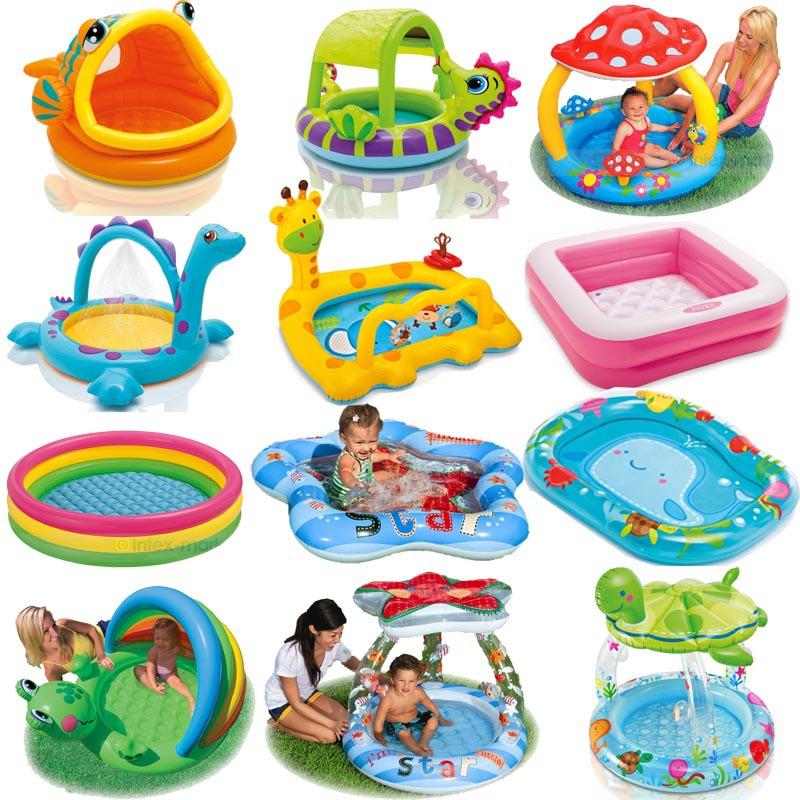 Bathroom Intex Cartoon Family Center Inflatable Swimming Pool Child Baby Kids Infant Bath Tub(China (Mainland))
