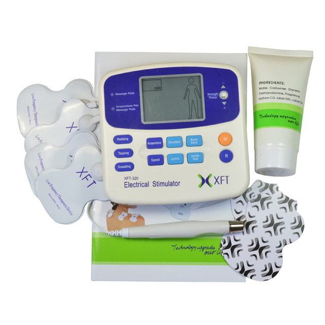 Retail Box !Tens Machine Digital Massage + Accupuncture Pen XFT-320A Health Care Body massager