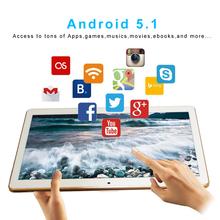 """Yuntab 10.1"""" K107 Android 5.1Tablet 1GB+16GB Quad-Core Phablet with Dual Camera Unlocked Dual Sim Card Slots Bluetooth GPS"""