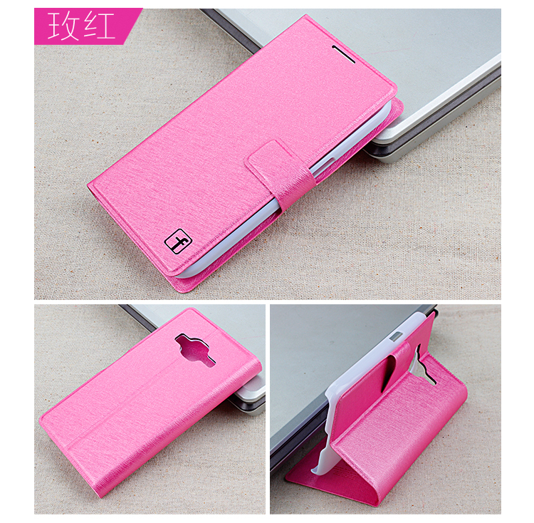 1-silk Leather Case Samsung Galaxy Core Prime G360 G360H G3606 G3608 G3609 Flip Cover Mobile Phone Bags Covers Cases - Amy store- store