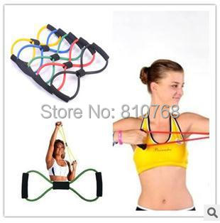 Figure 8 shape pull rope Yoga Pilates Stretch Resistance Band Exercise Fitness Training#2066 - Outdoor Shopping store