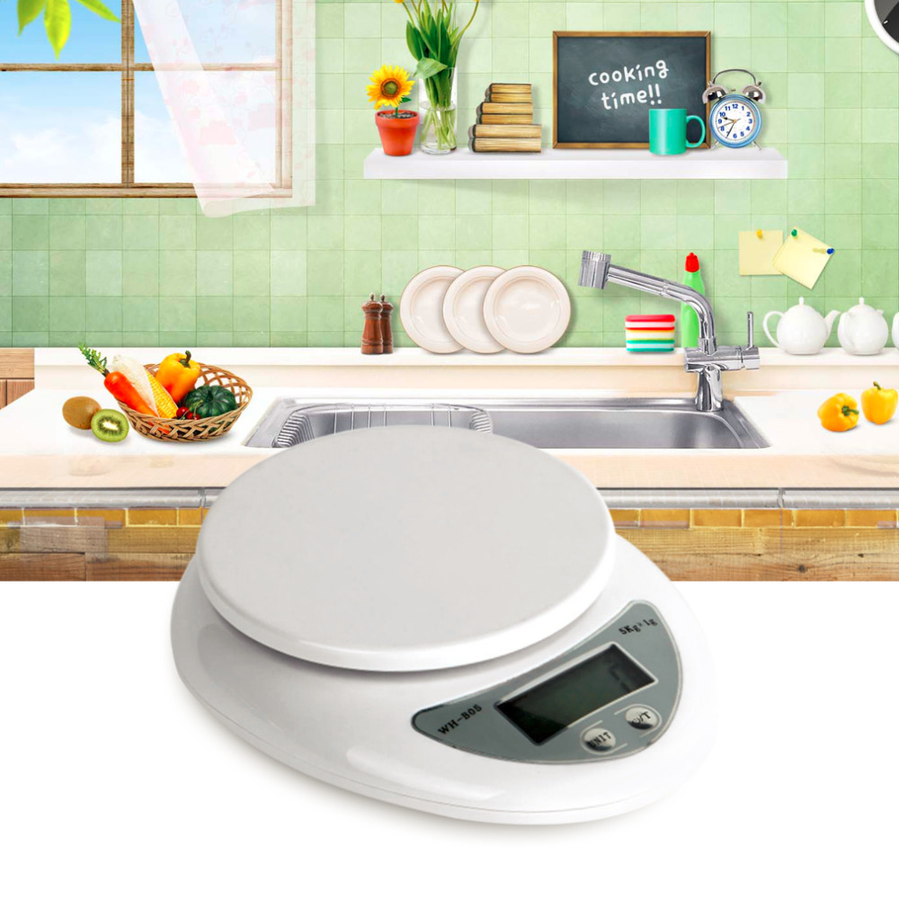 1PC 5000g 5kg 1g  LCD Display Weight Balance Digital Kitchen Scales Fo