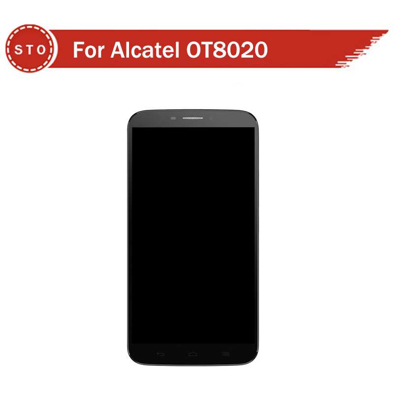 Original LCD Display with touch Screen digitizer with frame FOR Alcatel One Touch Hero 8020 8020D OT8020 Assembly Free shipping