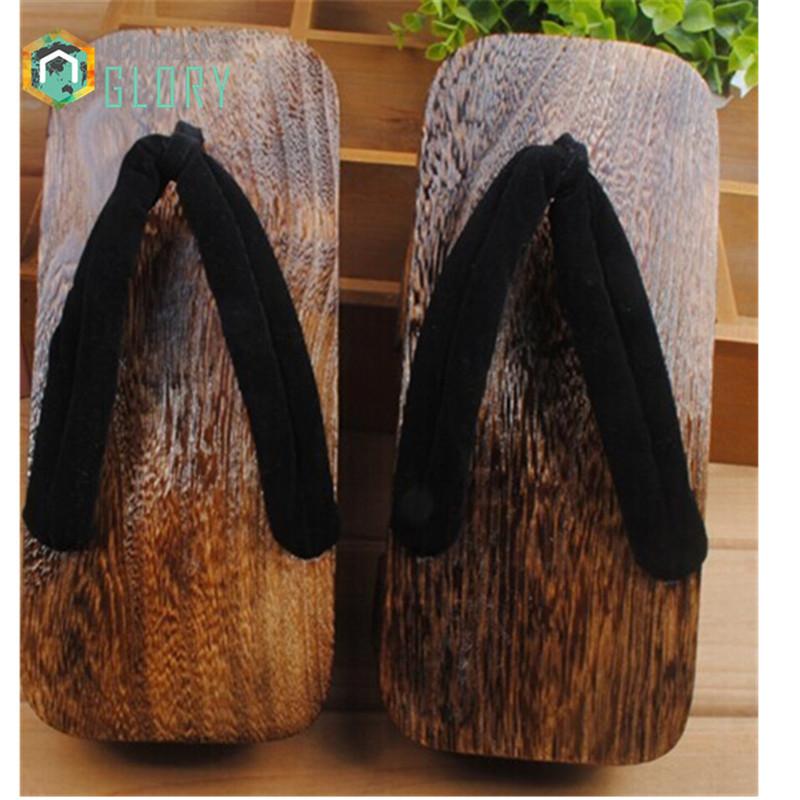 Japanese geta ,Women flip flops heel 2017 summer sandals paulownia SAMURAI Clogs shoes Cosplay shoes costume MGETA-015(China (Mainland))