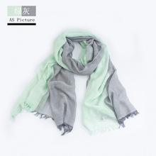 2018 venta al por mayor de marca para el invierno, bufanda cálido suave borla Bufandas Cachecol a cuadros gris tejido arrugado de los hombres de algodón pañuelos(China)