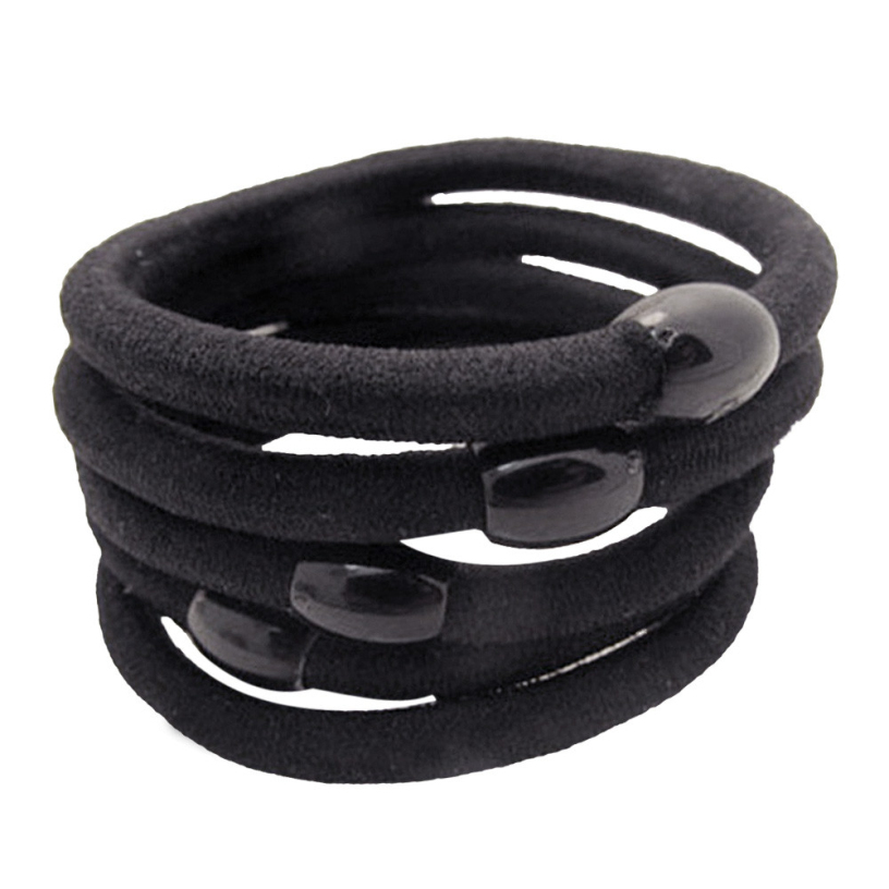 Best Deal New Good Quality Black Elastic Hair Bands Jewelry Accessorries Ropes Women Girls Gift 5 - Voberry Technology Co.,Ltd store