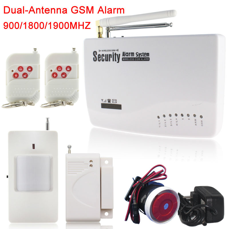 Гаджет  English/Russian/Spansih Voice Prompt Dual-antenna GSM Home Security Auto Dialing Dialer SMS Call Remote control Alarm None Безопасность и защита