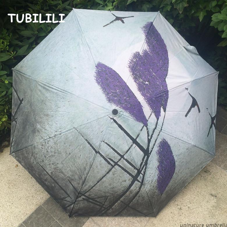 Oil Painting Rain Umbrella Drawing Black Umbrella Art Oil Painting Anti Rain Brand Umbrella High Quality Sombrinha(China (Mainland))