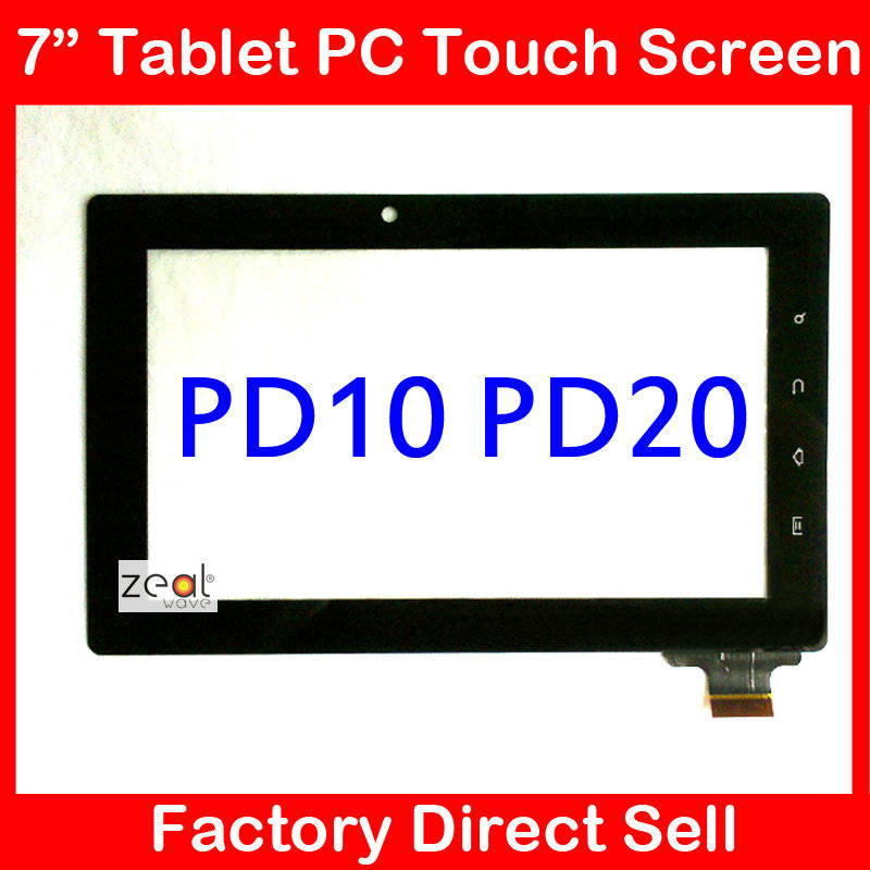 """7"""" Capacitive Touch Screen Panel Replacement for Freeland Tablet PC PD10 PD20 15mm Width Connector(China (Mainland))"""