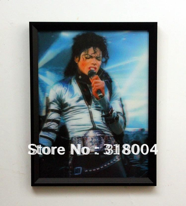 Christmas Wall Decor Michaels : Michael jackson framed d portrait wall painting for kids