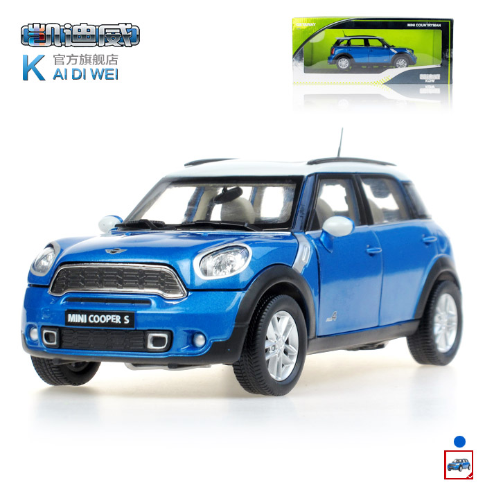 (3pcs/pack) Free Shipping Wholesale Brand New 1/24 Scale Car Toys KAIDIWEI MINI COOPER S Diecast Metal Car Model Toy(China (Mainland))
