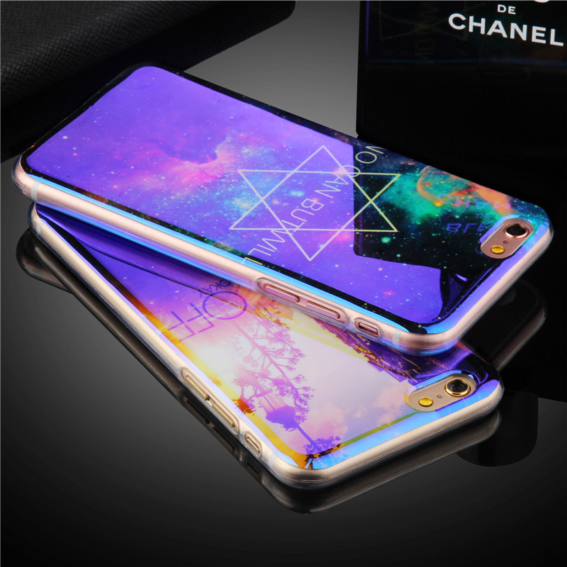 Luxury Cool Night Sky Star Diamond Pattern phone cases For iPhone 6 6S 6Plus 6s plus 7 7Plus 5 5S SE Blu-ray TPU back cover(China (Mainland))