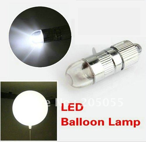 LED BALLOON LAMP LED BALL LIGHT for Paper Lantern Balloon Floral Decoration LED Party Light for Balloon --WHITE(STATIC,NO FLASH)