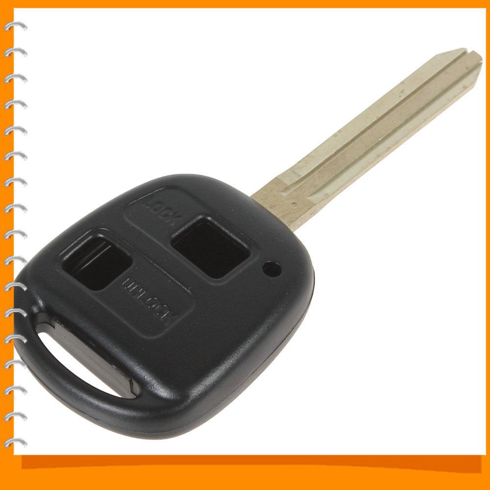 Portable Toyota 2 Button Car Remote Key Shell Case Replacement for Corolla / RAV4 / PRADO / YARIS Dropship(China (Mainland))