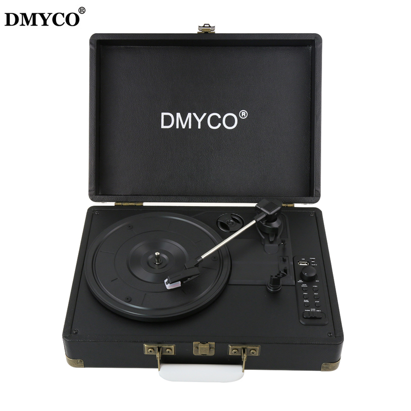 Original DMYCO Bluetooth 3-Speed Stereo Turntable Phono Vinyl Record Player with Remote Control Support USB/RCA Audio Out(China (Mainland))