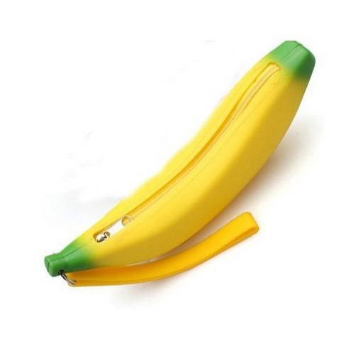 Новинка банан монета карандаш чехол девушки новинка мужчины женщины портативный бумажника мешка мужская сумка брелок