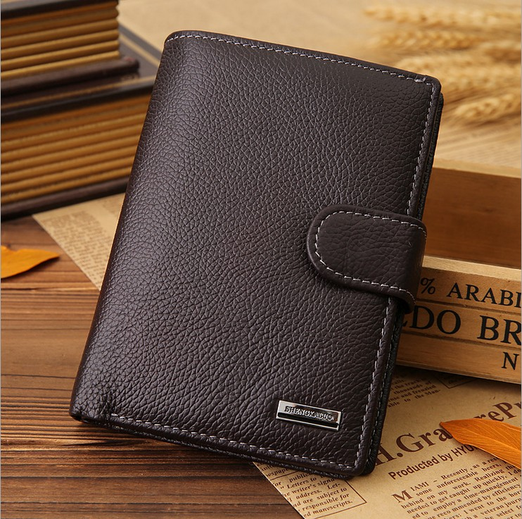 !New Men Wallet Genuine Leather Fashion Design Large Capacity Purses Wallets C3434 - Fiona's and Bag Store store
