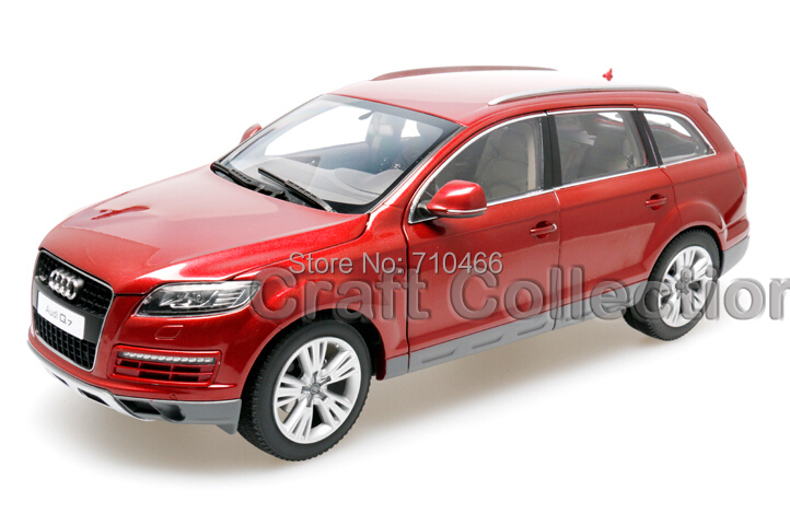 Red Car Model 1:18 Kyosho Audi Q7 2009 SUV Diecast Road Vehicle Cross Country Jeep - Craft Collection store