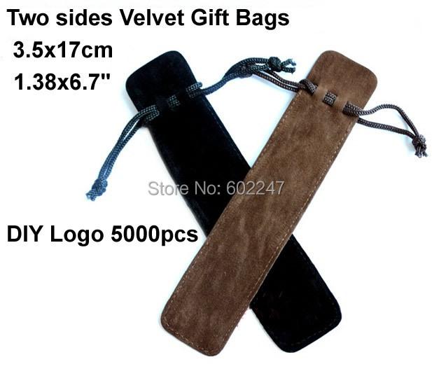 High quality Velvet Gift Bags Wholesales, DIY Custom logo velvet pen packing Bags, 3.5x17cm bags<br><br>Aliexpress