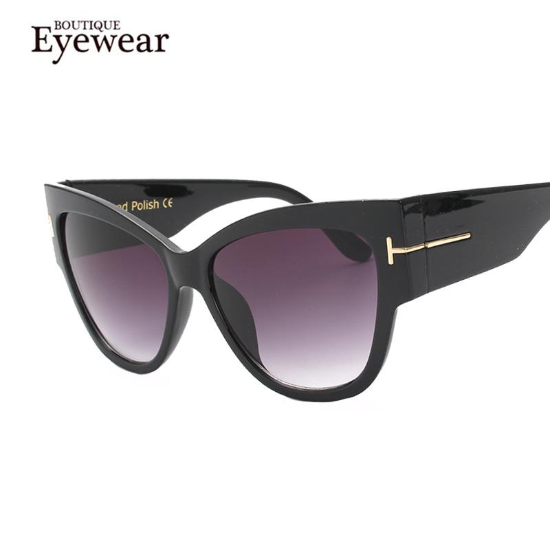 BOUTIQUE New Fashion Cat Eye Sunglasses Women Oversized Steampunk Vintage Sun Glasses For Ladies Retro Brand Designer