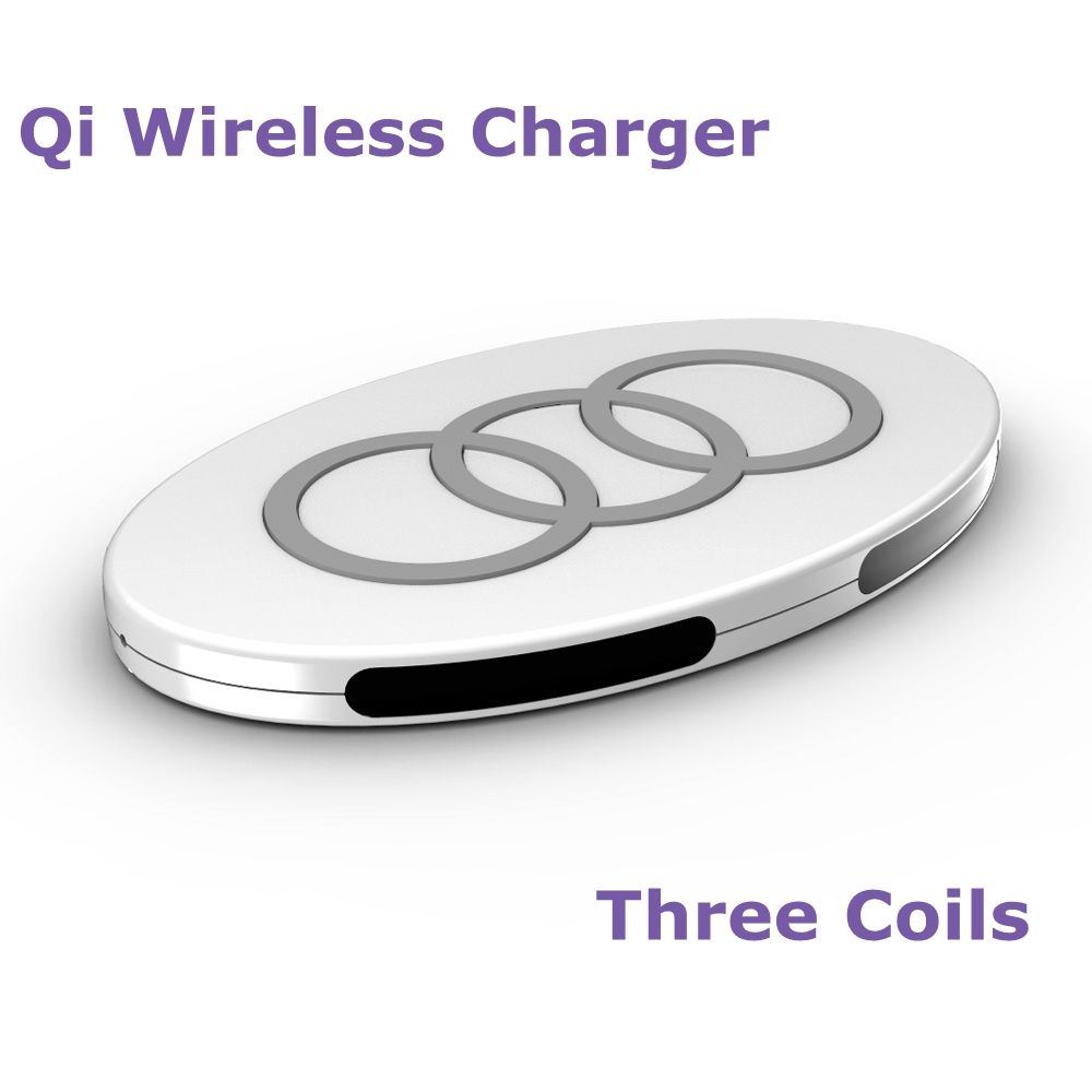 Three Coil Qi Wireless Charger Inductive Charging Pad Mat Portable Transmitter for LG Samsung All Qi Standard Devices(China (Mainland))