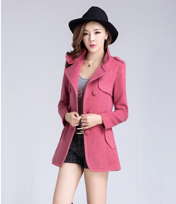 Super Top quality 2014 spring woolen overcoat female slim double breasted  women all-match outerwear fashion elegant Одежда и ак�е��уары<br><br><br>Aliexpress