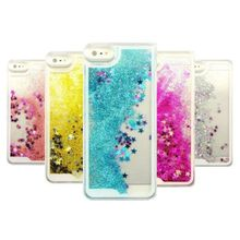 Transparent Fashion Dynamic Liquid Glitter Colorful Paillette Sand Quicksand Back Case Cover For iPhone 5 5S 6 Free Shipping(China (Mainland))