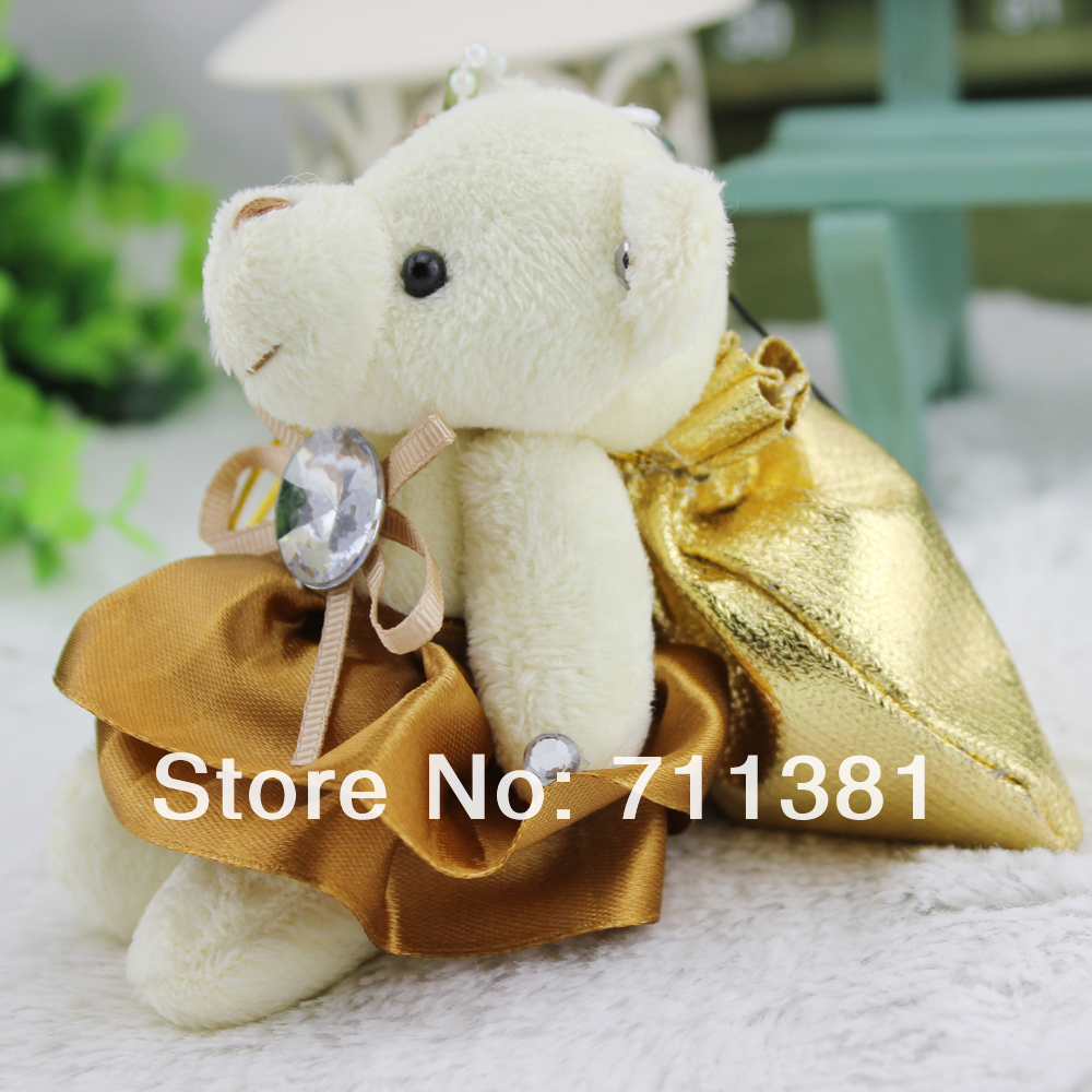 Free Shipping By EMS, Big Discount Plush Teddy Bears In Bulk With Candy Bag And Beautiful Skirt(China (Mainland))