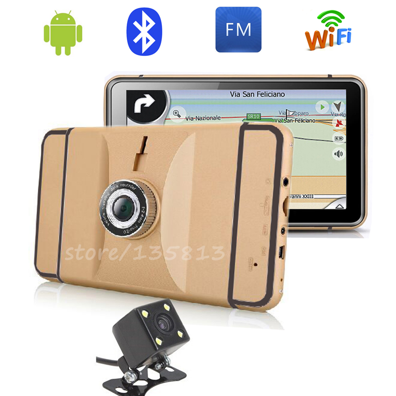 New 7 inch Car GPS Navigation Android car rear view DVR truck automobile navigator map automotive sat nav(China (Mainland))