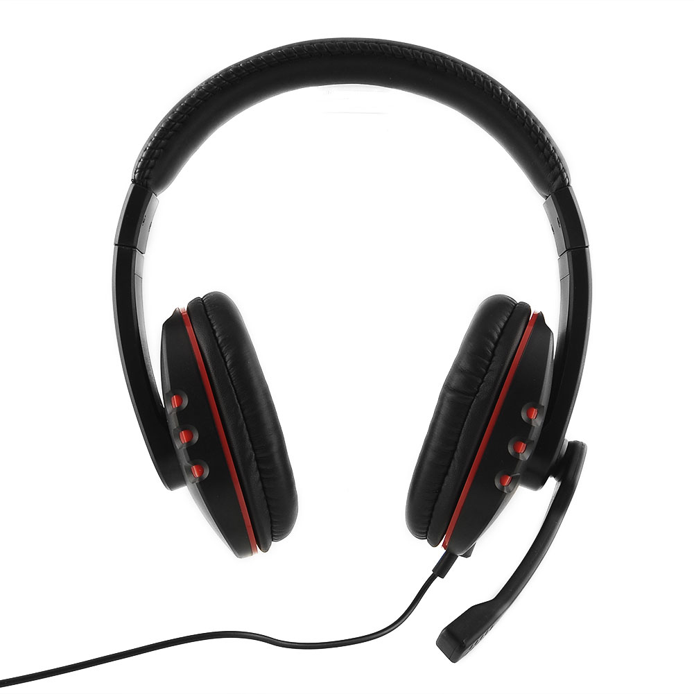 new Gaming Headset for PS4 Voice Control wired HI-FI sound quality Black Red Free shipping <br><br>Aliexpress
