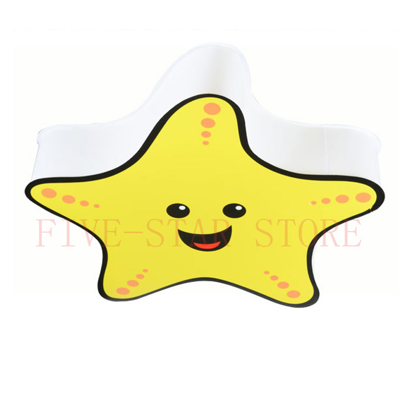 new modern SMD LED kids ceiling lighting lamp lovely yellow star children's bedroom LED ceiling lamp boys girls room light(China (Mainland))