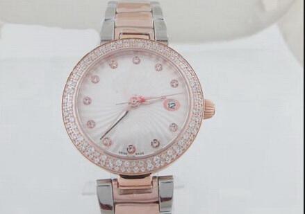 hot Diamonds bezel brand women watch Two tone belt stainless steel Quartz luxury wristwatch women's Watches(China (Mainland))