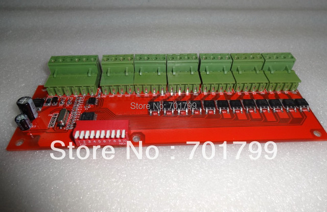 12 channel easy DMX decoder & driver,DC12-24V input,2A*12channel output