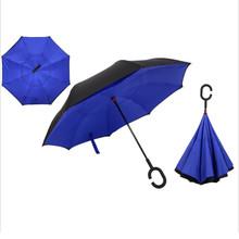 Yesello складной обратный двухслойный зонтик перевернутый ветрозащитный дождь автомобиля зонты для женщин(China)