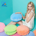Cartoon Colorful Macaron Style Round Back Cushion Soft Plush Lumbar Pillow Sofa Chair Cushion for Home