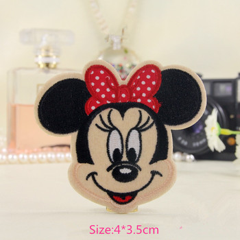 2015 Hot Red Butterfly EmbroMinnie idered Iron On Patches For Clothes Cartoon Badge Garment Appliques DIY Accessory