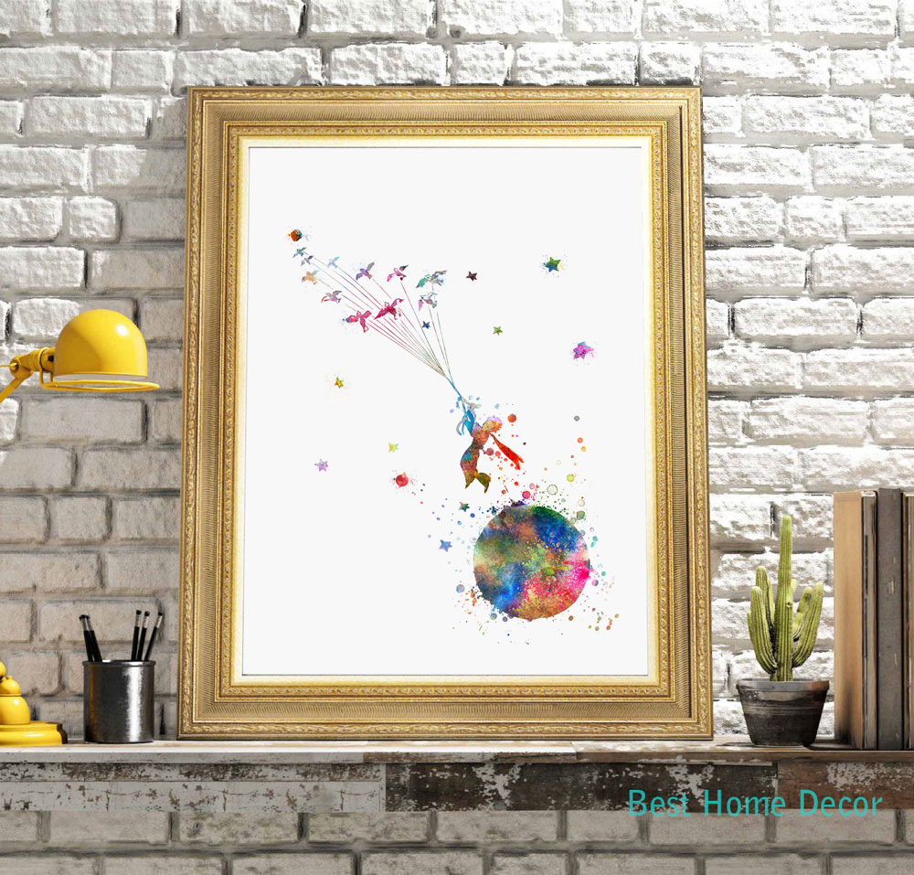 The little prince colorful inspired quote le petit prince Decoration le petit prince