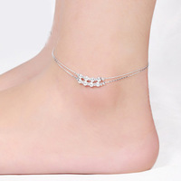 Ankle chain bracelet foot silver plated anklets Elegant water wave anklet Twisted rope tornozeleira for women JL016R