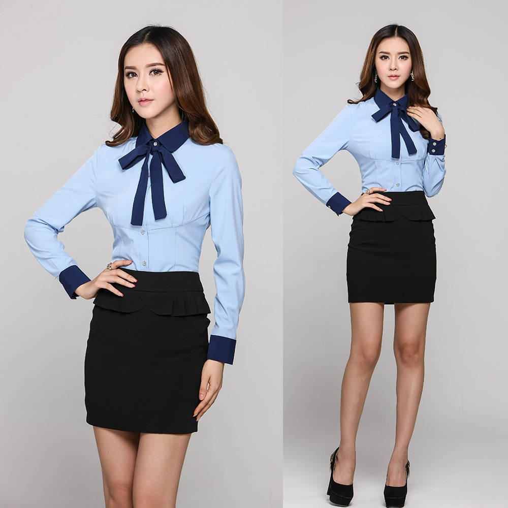 Office Uniforms Home Design : Formal Professional Office Uniform Designs Women Suits with Skirt and Blouse Sets Blue XXXL Plus Size from lastroadfilm.info size 1000 x 1000 jpeg 160kB