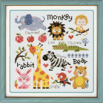 New arrival fabric print dmc cross stitch painting cartoon painting for children room