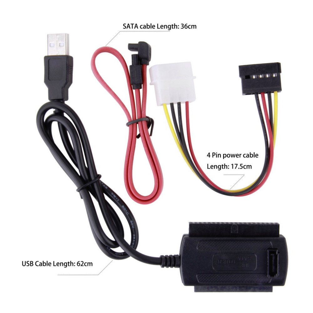 New Arrival SATA/PATA/IDE Drive to USB 2.0 Adapter Converter Cable for 2.5 / 3.5 Inch Hard Drive Hot Worldwide(China (Mainland))