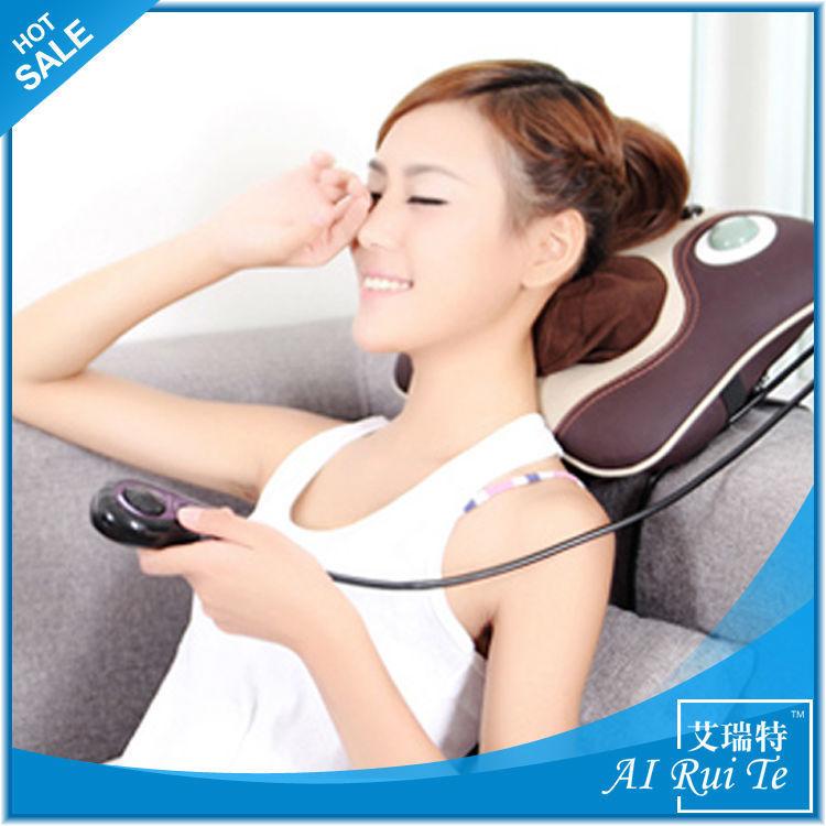 electric neck massage pillow shiatsu massage cushion car double massage device neck and head massage pillow(China (Mainland))