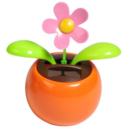 Solar Dancing Flower Assorted Colors Great as Gift or Decoration(China (Mainland))